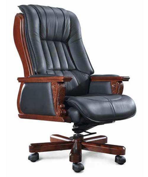 Кожаное кресло для руководителя MOLIBY Chrome