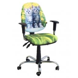 Дитяче комп'ютерне крісло: Brige chrome design. Фото