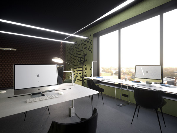 leaf office - натуруалістичний дизайн офісу, в бетонному місті