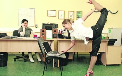 Здоровий спосіб життя в офісі.