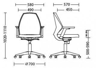 Характеристики: Крісло для персоналу: 4U R 3D net