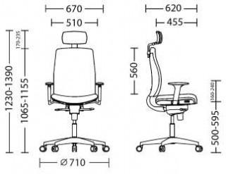Характеристики: Крісло преміум: Absolute NET
