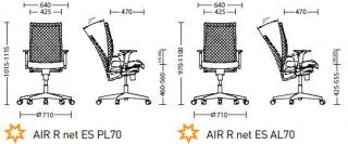 Характеристики: Крісло для персоналу: AIR