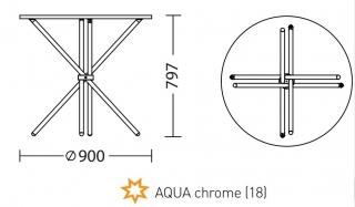 Характеристики: Стіл: AQUA