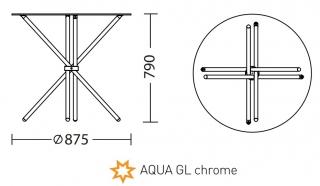 Характеристики: Стіл: AQUA GL