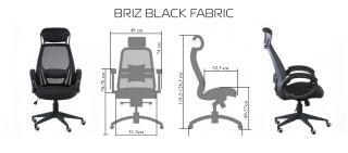 Характеристики: Крісло для персоналу: BRIZ