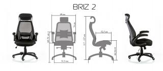 Характеристики: Крісло для персоналу: Briz 2