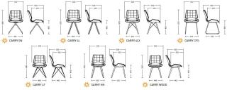 Характеристики: Крісло домашнє: Carry