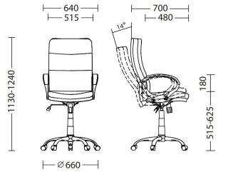 Характеристики: Крісло для керівника: DOLCE