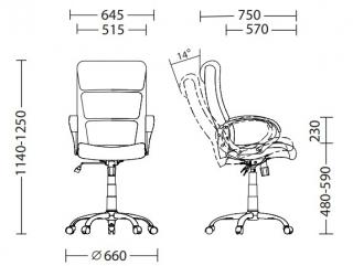 Характеристики: Крісло для керівника: Delta