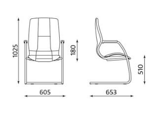Характеристики: Крісло конференційне: Formula CF chrome