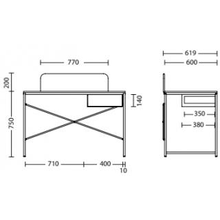 Характеристики: Стіл комп'ютерний: Forward з шухл. та панеллю