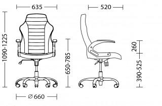 Характеристики: Крісло для керівника: Gamer