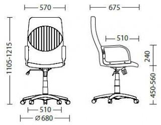 Характеристики: Крісло для керівника: GEFEST KD