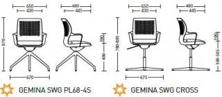 Характеристики: Стілець відвідувача: Gemina
