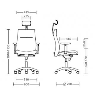 Характеристики: Крісло для персоналу: Vision R