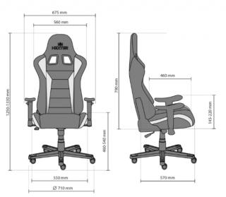 Характеристики: Геймерське крісло: HEXTER ML