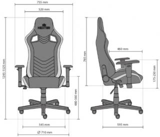 Характеристики: Геймерське крісло: HEXTER PRO