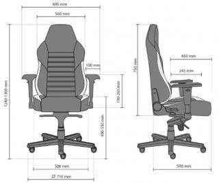 Характеристики: Геймерське крісло: HEXTER XL