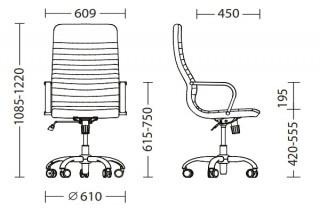 Характеристики: Крісло для керівника: LIBERTY