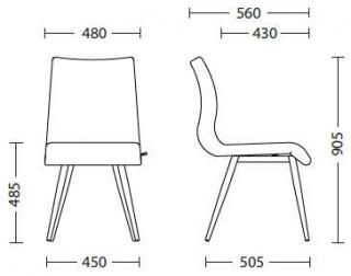 Характеристики: Крісло домашнє: Luis