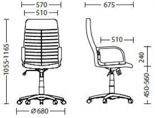 Характеристики: Крісло для керівника: Orman KD