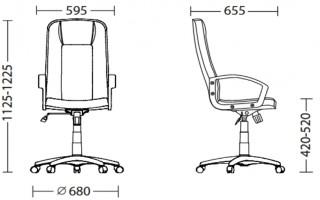Характеристики: Крісло для керівника: Rally