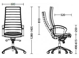 Характеристики: Крісло для керівника: Irirs tilt