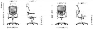 Характеристики: Крісло для персоналу: Stilo