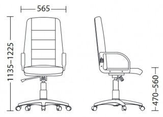 Характеристики: Крісло для керівника: TURBO