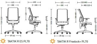 Характеристики: Крісло для персоналу: Taktik Net