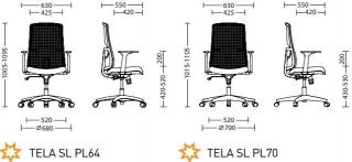 Характеристики: Крісло для персоналу: Tela
