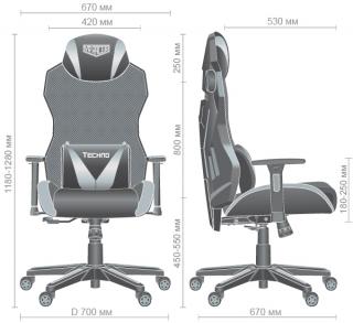 Характеристики: Геймерське крісло: VR Racer Techno Soul