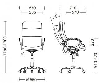 Характеристики: Крісло для керівника: YAPPI