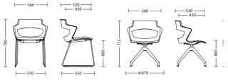 Характеристики: Стілець для кафе і бару: ZENITH plastplus