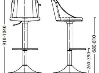 Характеристики: стілець барний високий: Camilla