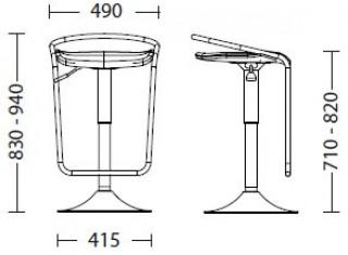 Характеристики: стілець барний високий: Campari