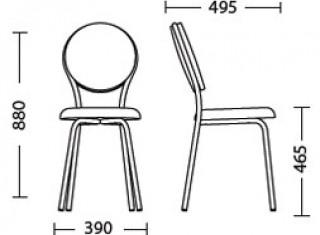 Характеристики: Стілець для кафе і бару: Fast-Time
