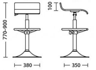 Характеристики: стілець барний високий: Latina