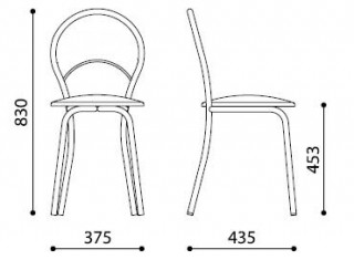 Характеристики: Стілець для кафе і бару: Marino Plus