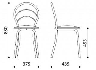 Характеристики: Стілець для кафе і бару: Marino