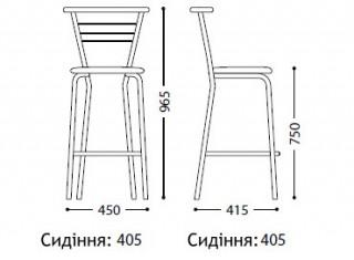 Характеристики: стілець барний високий: Marko hoker chrome
