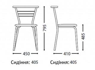 Характеристики: Стілець для кафе і бару: Marko chrome