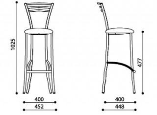 Характеристики: стілець барний високий: Molino hoker