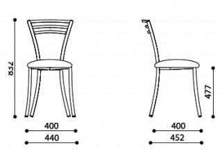 Характеристики: Стілець для кафе і бару: Molino