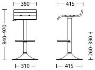 Характеристики: стілець барний високий: Olivia