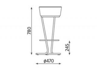 Характеристики: стілець барний високий: Pinacolada hoker