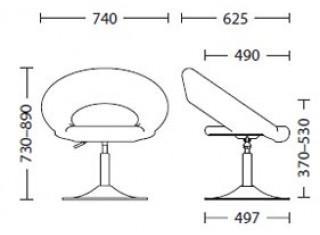 Характеристики: Стілець для кафе і бару: Rose XL