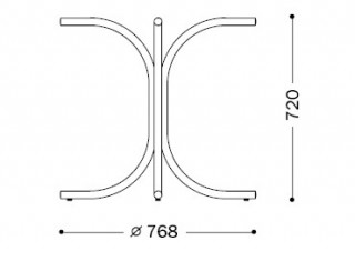 Характеристики: Ніжка для столу: Rozana chrome
