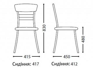 Характеристики: Стілець для кафе і бару: SE-17